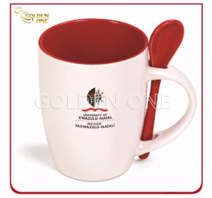 Promotion Heat Tranfer Printed Porcelain Mug with Spoon pictures & photos