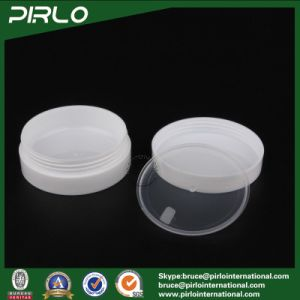 30g 1oz Double Wall Oblate Shape Plastic Jar Empty Skin Care Cream Jar Facial Mask Container Luxury PP Plastic Cream Jar pictures & photos