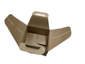 Cardboard Box with Handle Cake Box with Handle Custom Printing Free Design pictures & photos