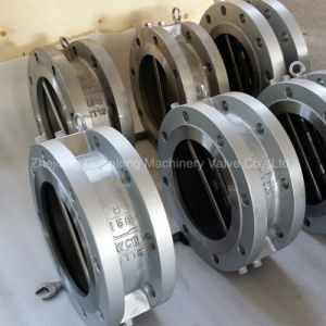 Spring Loaded Flange End Non Slam Butterfly Swing Check Valve (H46X/H DDCV) pictures & photos