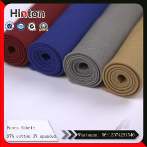 Heavy Weight Kahki Color Men Pant Fabric with High Stretch pictures & photos