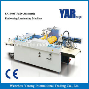 Cheap Price Automatic Sheet Paper Laminating and Embossing Machine with Ce pictures & photos