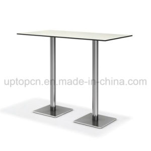 Wholesale Double Stainless Steel Legs High Bar Table (SP-BT674) pictures & photos