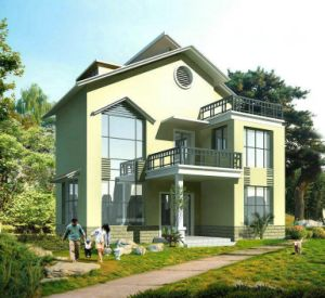 Luxury Two Storey High Quality Beauty Light Steel Structure Prefab House pictures & photos