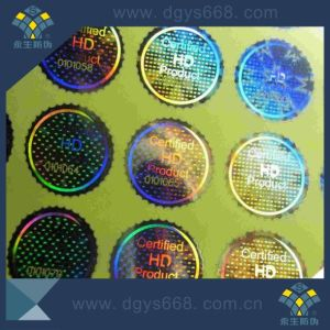 Transparent Laser with Number Hologram Sticker Printing pictures & photos