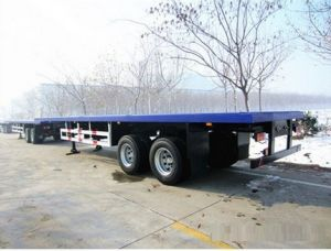 20FT Low Bed/Lowboy Semi Truck Trailer pictures & photos