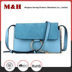 Custom Color Shoulder Ladies Leisure Bag with Metal Chain pictures & photos