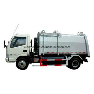 Gas Side Loading Garbage Truck pictures & photos