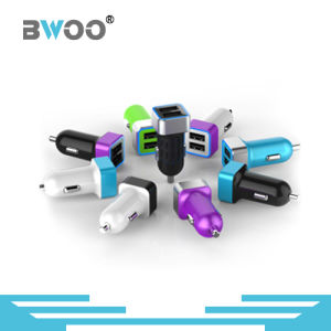 Wholesale Colorful Metal 2 Port USB Car Charger pictures & photos