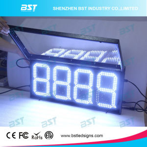 Outdoor Weatherproof White Color LED Gas Price Sign (RF remote) pictures & photos