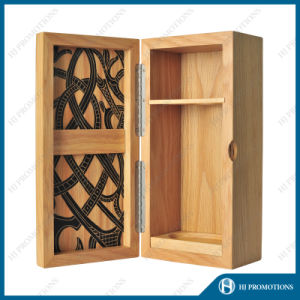 Customized Wooden Liquor Bottle Packaging Box (HJ-PWSY02) pictures & photos