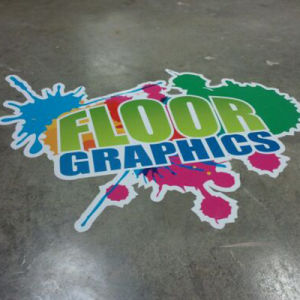 Custom Design Full Color Waterproof Vinyl Floor Graphics Decal Sticker pictures & photos