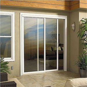 Aluminum Frame Hung Sliding Door with Frosted Tempered Glass pictures & photos