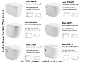 Watermark Washdown Wall Hung Ceramic Project Toilet Bathroom (6012) pictures & photos
