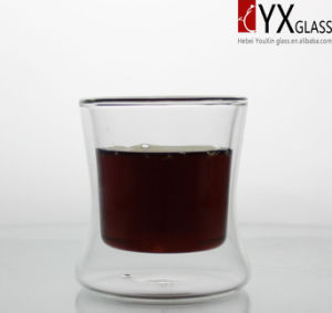 350ml Heat-Resistant Borosilicate Double Wall Glass Tea Cup/Double Wall Glass Coffee Cup/Double Layer Glass Coffee Cup pictures & photos