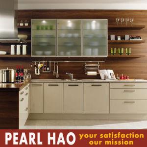 Modern Apartment Design Melamine Wooden Kitchen Cabinet pictures & photos