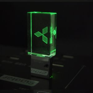 New 4GB 8GB 16GB 32GB Crystal Transparent Mercedes Logo USB Flash Drive 2.0 Memory Drive Stick Pen/Thumb Pen Drive, Gift Box pictures & photos