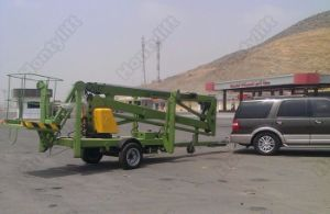 Ce Approved Truck Mounted Boom Lift/Trailers with Hydraulic Lifts pictures & photos