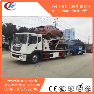 Dongfeng 8t Platform Three Car Carrier Tow Truck pictures & photos