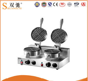 Best Price Stainless Steel Double Waffle Baker Machine pictures & photos