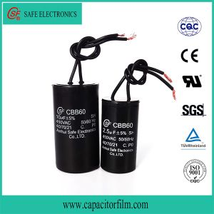 Cbb60 AC Motor Running and Starting Metallized BOPP Film Capacitor for Refrigerator pictures & photos