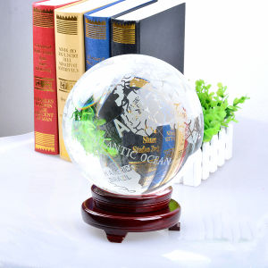 Factory Crystal Glass Earth Ball Globe Tellurion for Decoration pictures & photos