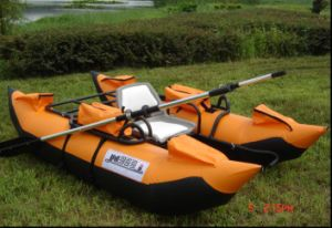 PVC Inflatable Single Rowing Fishing Boat for Outdoor Recreation pictures & photos