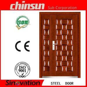 Steel Door Designs with Price/Double Door Metal pictures & photos