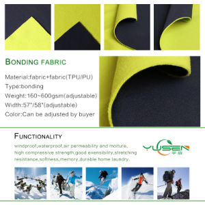 100% Poly Material Bonded Pattern TPU Membrane Fabric pictures & photos