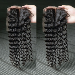 Bliss Hair 4X4 Lace Closure Three/Free/Middle Part Top Swiss Lace Closure Deep Wave Brzilian Virgin Human Hair Closures Pieces pictures & photos