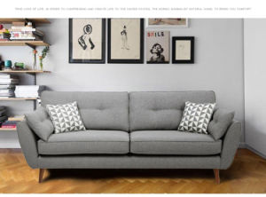 Chinese Furniture Wooden Fabric Sofa (K57) pictures & photos