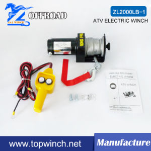 ATV Electric Winch with Handheld Remote 2000lb 12V/24V pictures & photos