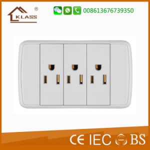 Bottom Price Triple Gang Two Pin Socket pictures & photos