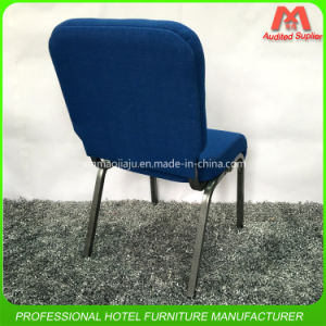 fashion Style Padded Connected Iron Steel Church Chair in Blue Colour pictures & photos