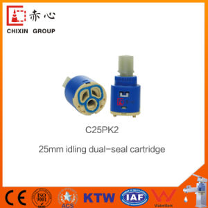 Water Saving Ceramic Mixter Diverter Valve Cartridge for Basin Faucet pictures & photos