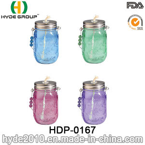 16oz Customized BPA Free Plastic Mason Jar with Straw (HDP-0167) pictures & photos