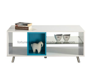 Modern Wooden UV High Gloss Coffee Table with Stainless Feet (Sea 503)