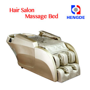 Gold Color High End Hair Wash Shampoo Massage Chair Bed pictures & photos