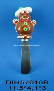 Stainless Steel Cheese Knife with Ceramic Gingerbread Man Handle pictures & photos