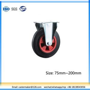 Industrial Hand Solid Trolley Rubber Roller Wheel pictures & photos