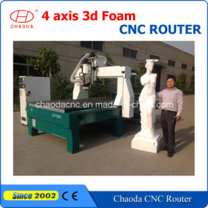 Low Cost! 4 Axis Foam CNC 3D Sculpture Caving Machine Price pictures & photos