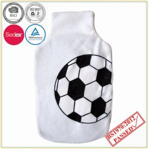 BS Quality Hot Water Bottle with Football Design Fleece Cover pictures & photos