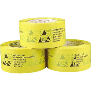 Yellow Packing Tape with ESD Warning pictures & photos