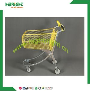 New Style Supermarket Electrical Metal Hand Push Trolley Shopping Carts pictures & photos