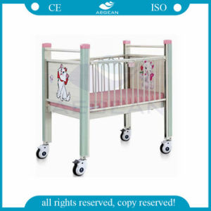 AG-CB004 Witn Four Wheels Stainless Steel Infant Hospital Bed pictures & photos