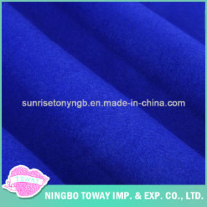 Wholesale Blue Garment Organic Heavyweight Wool Fabric for Coats pictures & photos