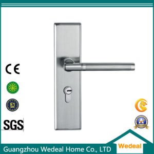 Stainless Steel Lock Door Handle for Wooden Door pictures & photos
