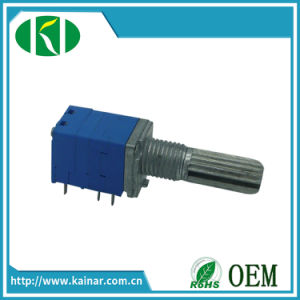 9mm Rotary Potentiometer Stereo with Switch B103 Potentiometer Wh9011ak-2 pictures & photos
