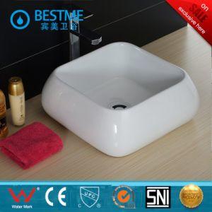Bathroom Vanity Ceramic Wash Hand Square Basin pictures & photos