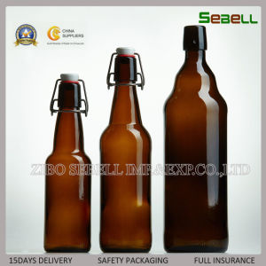 750ml Brown Color Glass Beer Bottle with Swing Top (NA-030) pictures & photos